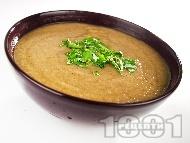 Постна веган гъбена крем супа с кафяви кралски печурки, карфиол и кимион